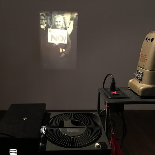 Old Leitz Projector, the photographer's gallery, slide presentation