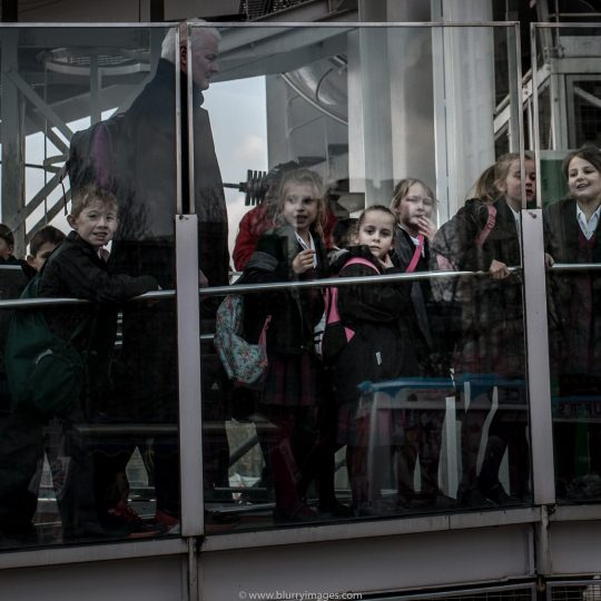 London queue, kids, London Eye